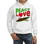 Peace Love Canoe Hooded Sweatshirt