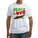 Peace Love Canoe Fitted T-Shirt