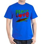 Peace Love Canoe Dark T-Shirt