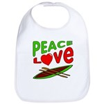 Peace Love Canoe Bib