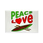 Peace Love Canoe Rectangle Magnet