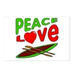 Peace Love Canoe Postcards (Package of 8)