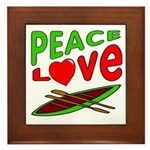 Peace Love Canoe Framed Tile