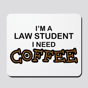 Law Student Need Coffee Mousepad