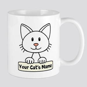 Personalized White Cat Mug