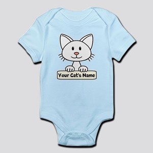 Personalized White Cat Infant Bodysuit
