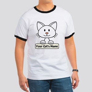 Personalized White Cat Ringer T