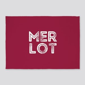 Merlot Wine 5'x7'Area Rug
