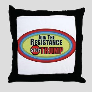 Resist Trump Throw Pillow