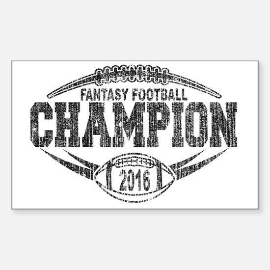 Unique Fantasy football trophies Sticker (Rectangle)