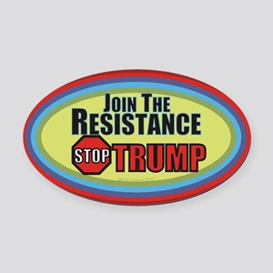 Resist Trump Oval Car Magnet