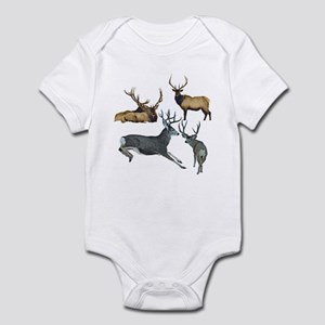 Bull elk and buck deer 17 Infant Bodysuit