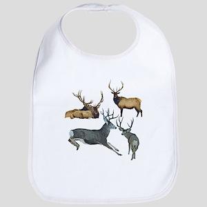 Bull elk and buck deer 17 Bib