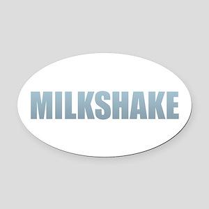 Milkshake Oval Car Magnet