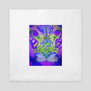 Abstract Cougar - Purple Queen Duvet