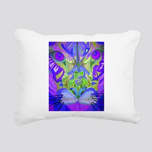 Abstract Cougar - Purple Rectangular Canvas Pillow