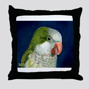 Green Quaker Throw Pillow
