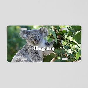Hug me: cute Australian koa Aluminum License Plate