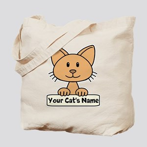 Personalized Orange Cat Tote Bag