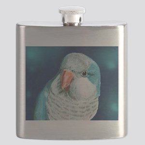 Blue Quaker Flask