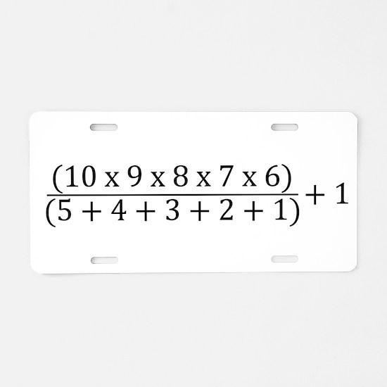 2017 Aluminum License Plate