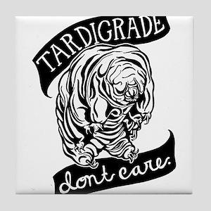 Tardigrade Don't Care Tile Coaster