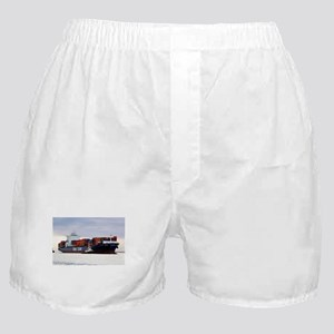 Container cargo ship and tug Boxer Shorts