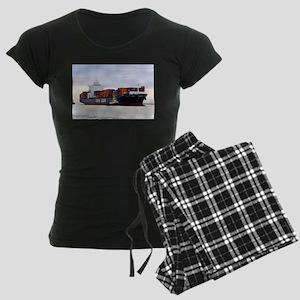 Container cargo ship and tug Pajamas
