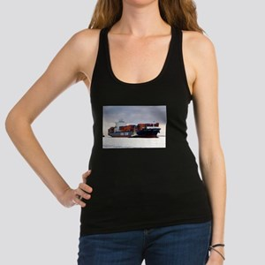 Container cargo ship and tug Tank Top
