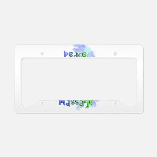 Peace, Love and Massage License Plate Holder