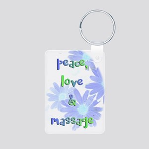 Peace, Love and Massage Keychains