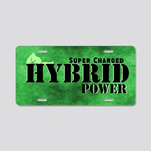 Super Charged Hybrid Power Aluminum License Plate