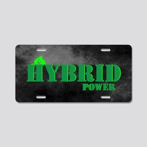 Hybrid Power Aluminum License Plate