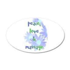 Peace, Love and Massage Wall Decal