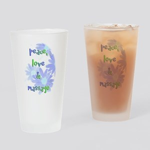Peace, Love and Massage Drinking Glass