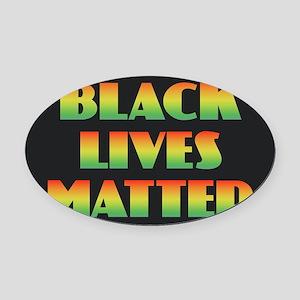 Black Lives Matter Oval Car Magnet