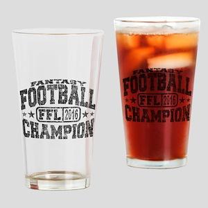 2016 Fantasy Football Champion FFL Drinking Glass