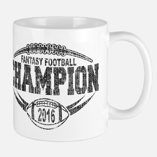 2016 Fantasy Football Champion Football Mug