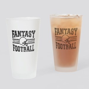 2016 Fantasy Football Champion Helm Drinking Glass