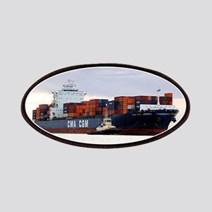Container cargo ship and tug Patch