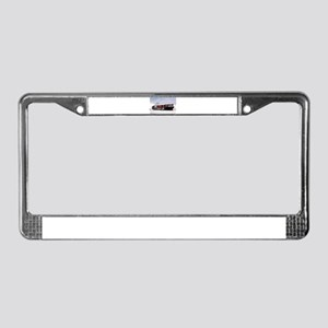 Container cargo ship and tug License Plate Frame