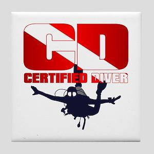 CD Certified Diver Tile Coaster