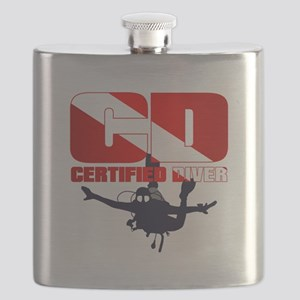 CD Certified Diver Flask