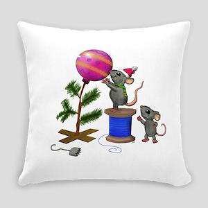 Christmas Mice Everyday Pillow