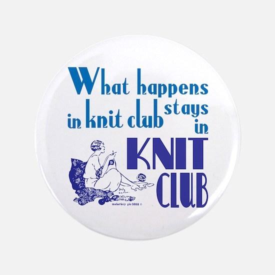 Knit club blue retro Button