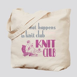 Knit club pink grey Tote Bag