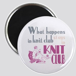 Knit club pink grey Magnets