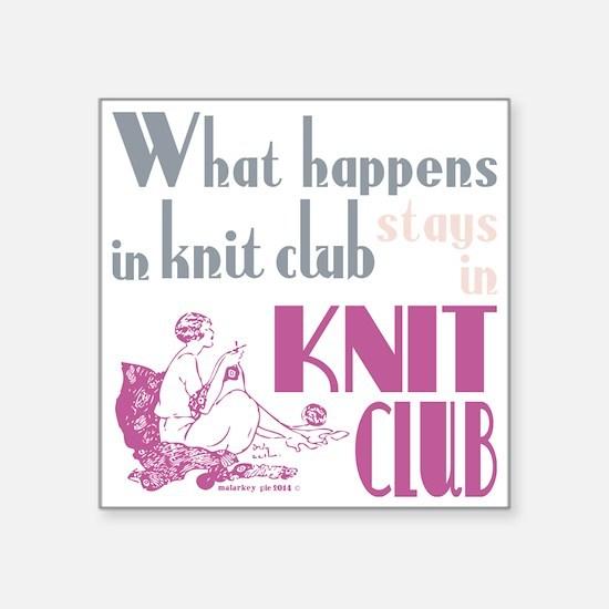 Knit club pink grey Sticker
