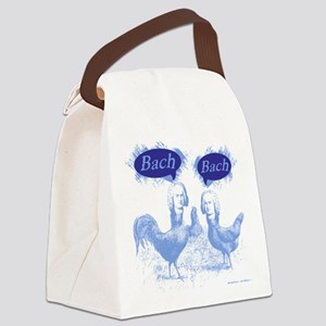 Chicken Bach Bach Blue Canvas Lunch Bag