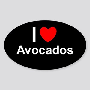 Avocados Sticker (Oval)